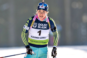 Ukrainian Dzhima wins silver at Biathlon World Cup