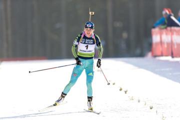 Biathlon-Weltcupetappe: Julia Dschima holt Silber in Antholz