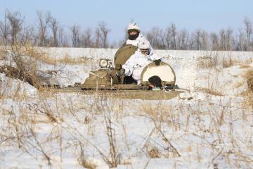 Invaders remotely mine Ukrainian positions near Novomykhailivka in Donbas