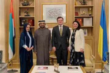 Le ministre des Affaires étrangères de l'Ukraine reçoit l'ambassadeur des EAU