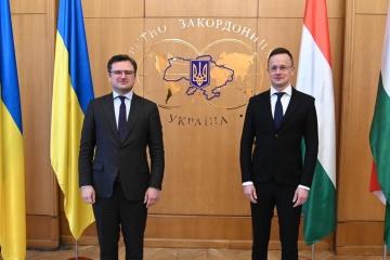 ウクライナ・ハンガリー外相会談 冷静な議論継続を強調