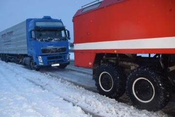 Im Gebiet Mykolajiw ebenfalls Verkehrsschwierigkeiten wegen Schneewetter