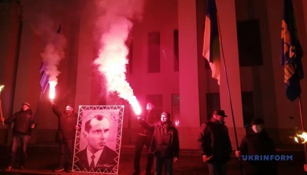 У Херсоні відбулась акція до 112-річчя від дня народження Бандери