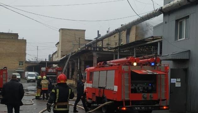 У Києві горіла офісна будівля «Укрриби»