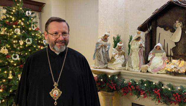 Глава УГКЦ привітав українців у світі з Різдвом