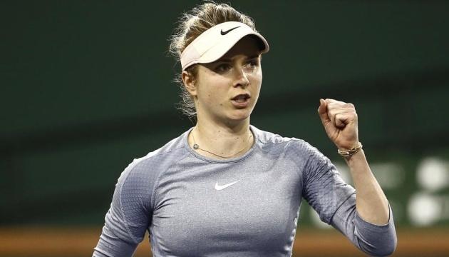 На старті турніру WTA в Абу-Дабі Світоліна зіграє з американкою Пегулою