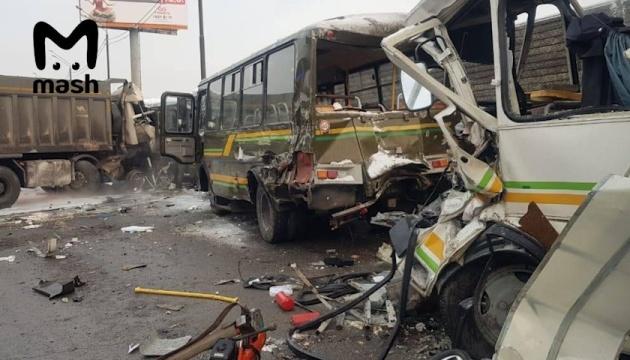 ДТП с военными автобусами в Подмосковье: число пострадавших возросло до 50