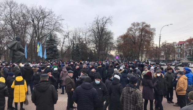 В Прилуках прошел тарифный протест