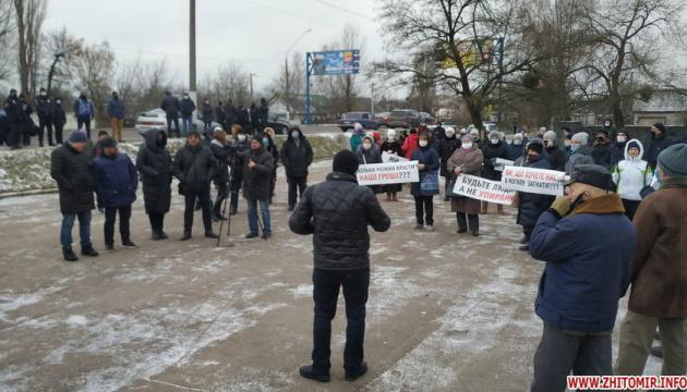 У Житомирі «тарифний протест» блокував дорогу на Київ