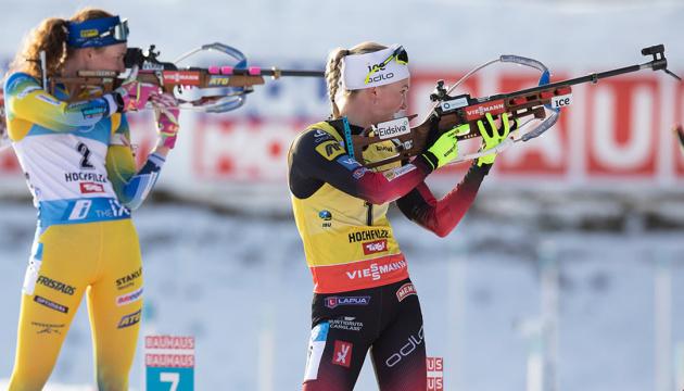 Екгофф виграла спринт на етапі Кубка світу з біатлону