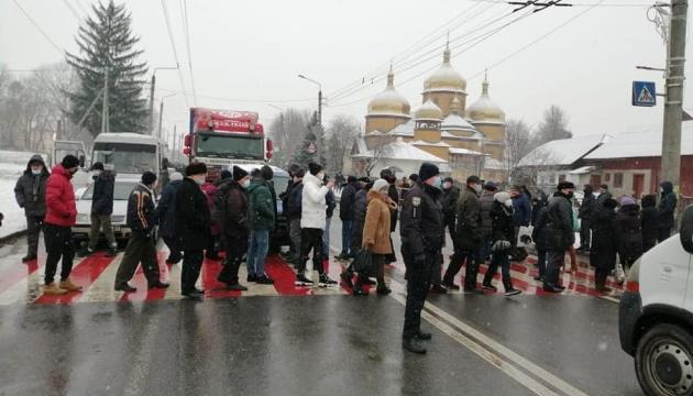 Тарифні протести: під Франківськом перекрили державну трасу