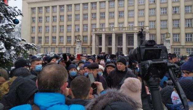 В Ужгороді мітингували проти високих тарифів