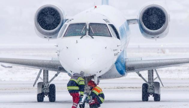 Снігопад не вплинув на роботу аеропорту «Київ»
