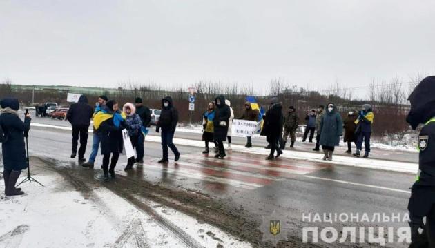 Тарифні протести: на Буковині знову перекрили державну трасу