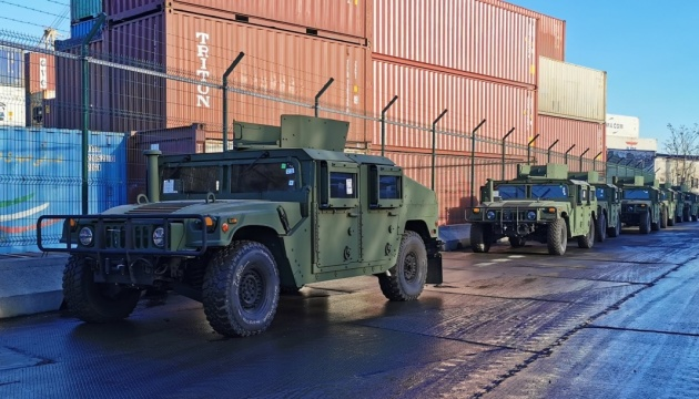 U.S. provides Ukraine with 20 new Humvees and 80 boats