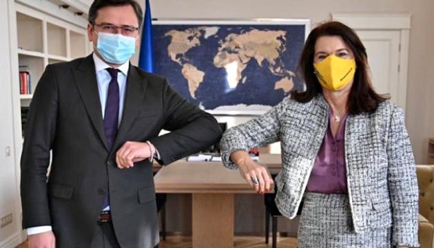 Ann Linde, président de l'OSCE, arrive en Ukraine pour une visite de travail