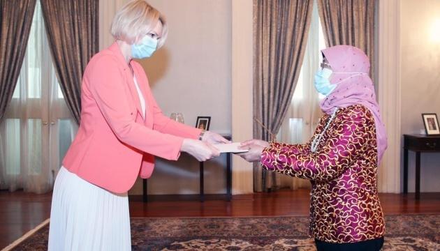 Ukrainian ambassador presents credentials to president of Singapore