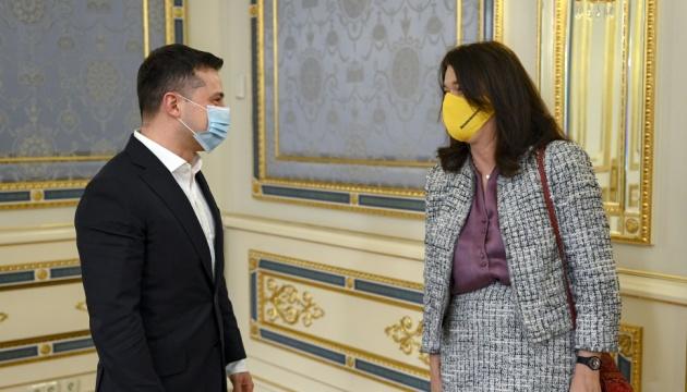 Зеленський зустрівся з чинною головою ОБСЄ – про що говорили