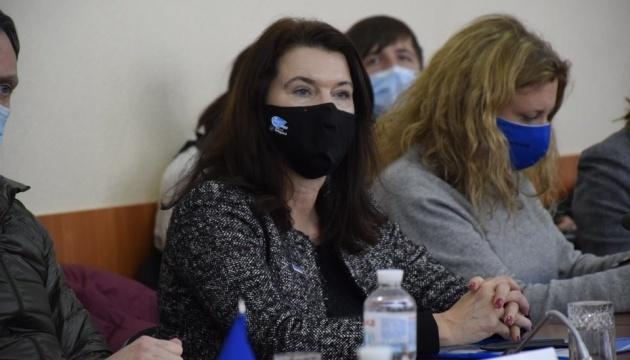 Podczas wizyty w Donbasie Przewodnicząca OBWE wyraziła poparcie dla Ukrainy
