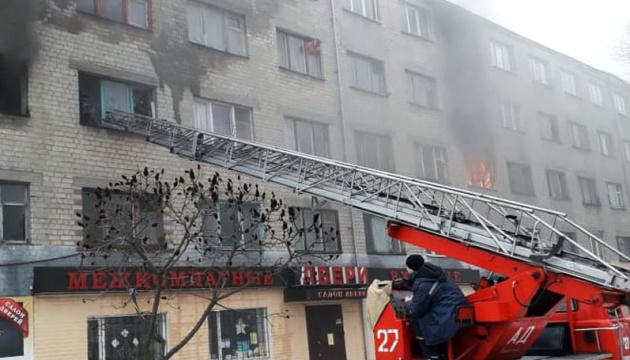 В Павлограде горело общежитие, есть пострадавшие