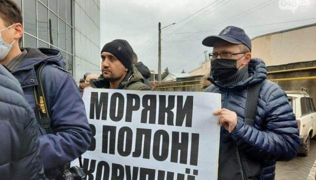 Моряки вийшли на протести в Одесі та ще кількох містах