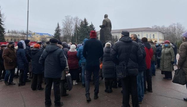 В Житомире снова собрался «тарифный» протест