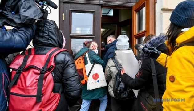 В Запорожье журналисты пикетировали горсовет