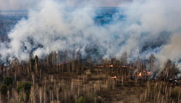 Лісові пожежі змінили карту забруднення зони ЧАЕС – екологи