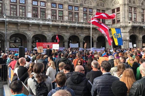Антикарантинні протести у Відні