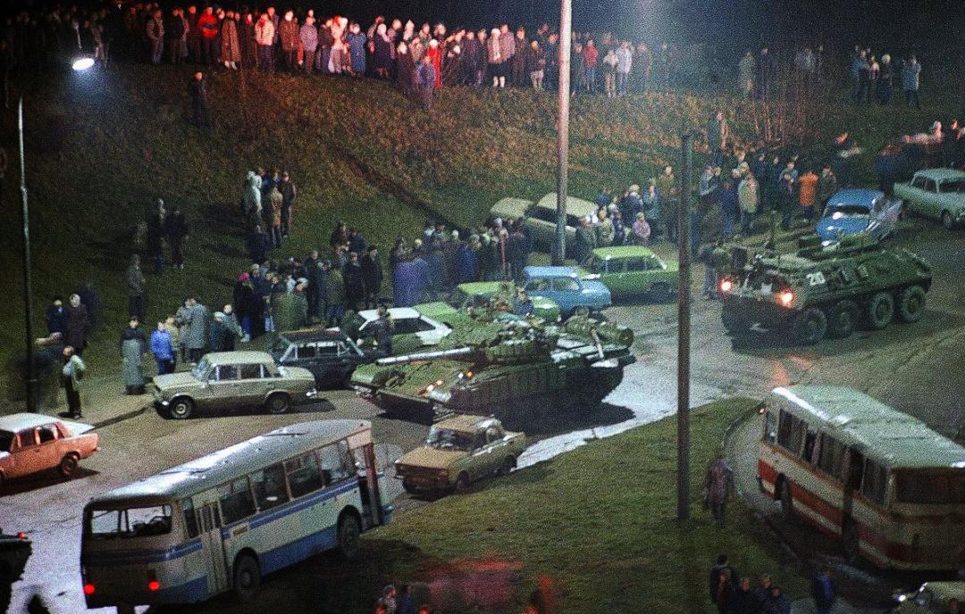Танки у Вільнюсі. Січень 1991 р.