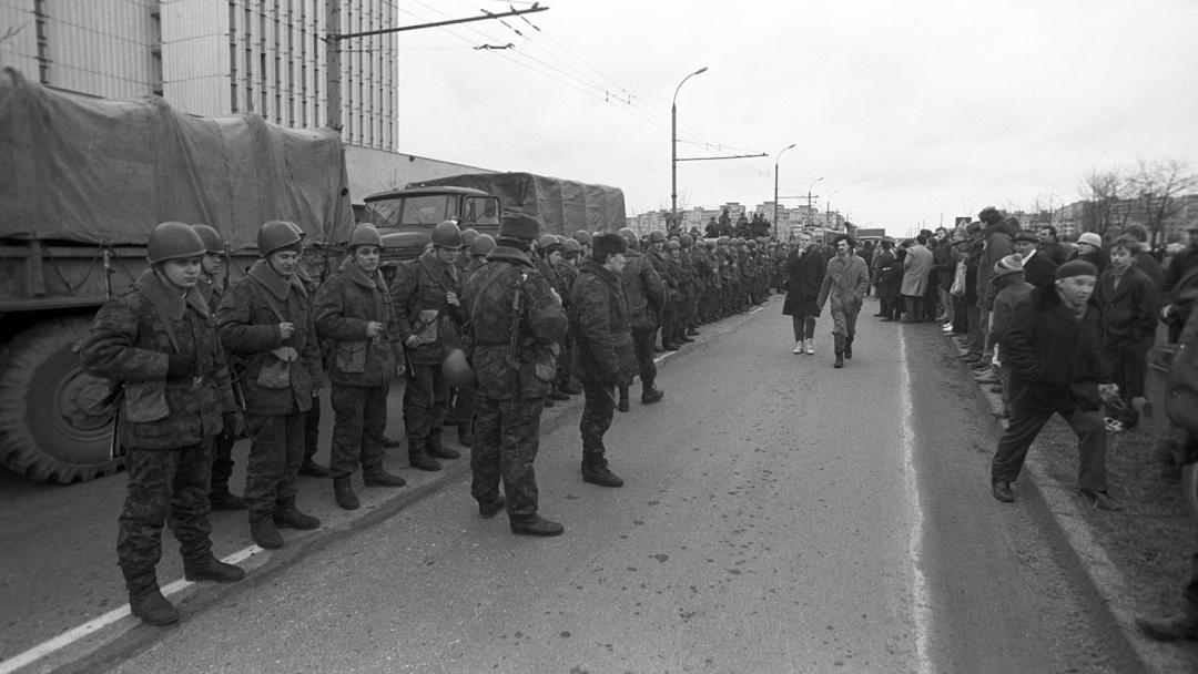 Десантники на вулицях Вільнюса, 12 січня 1991 року