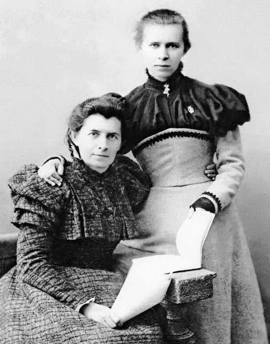Леся і мати Олена Пчілка, Ялта, січень 1898 р.