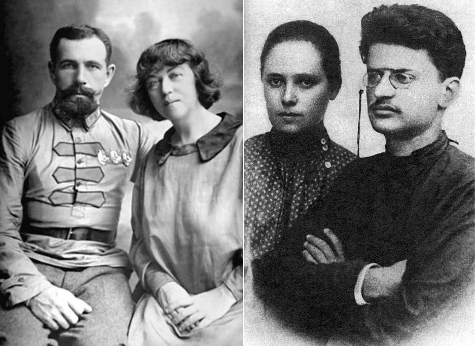 Олександра Коллонтай та Лев Троцький із своїми коханими
