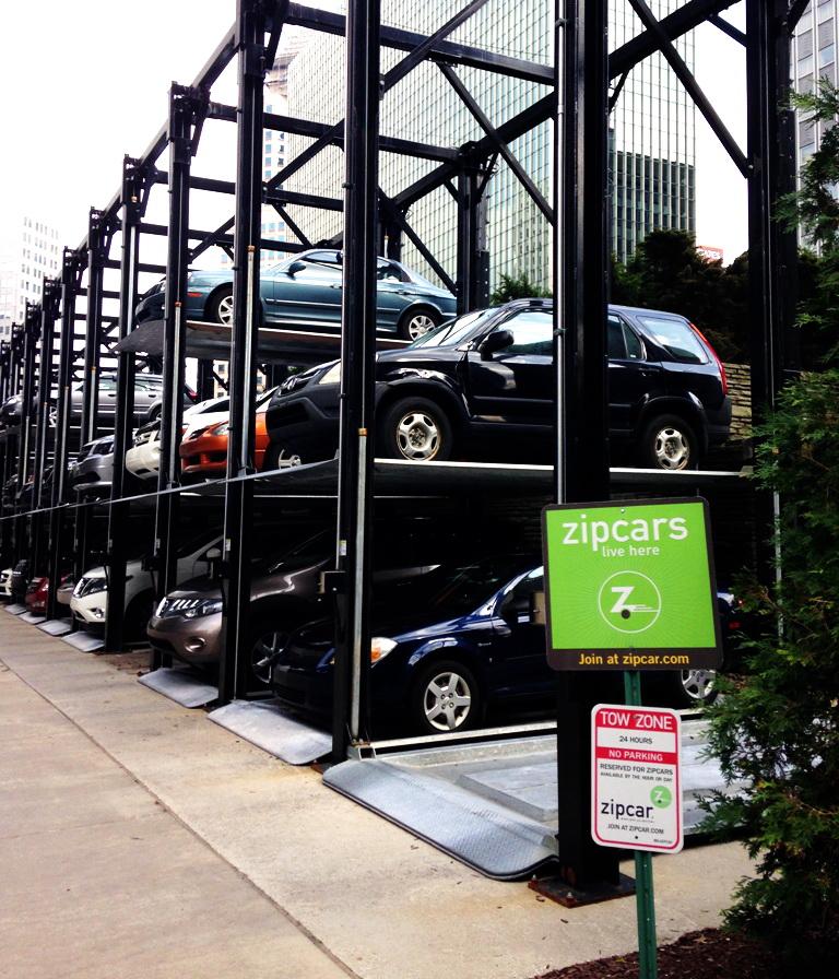 """Майданчик прокату автомобілів від """"Zipcar"""""""
