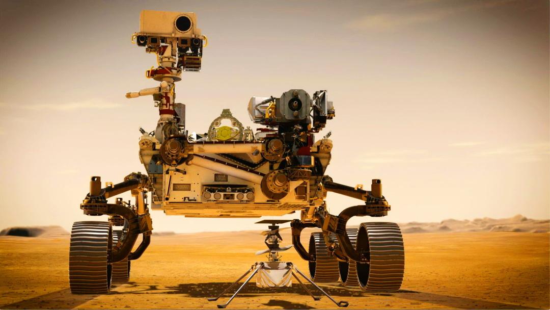 """концептуальний малюнок марсоходу """"Наполегливість"""" на Марсі"""