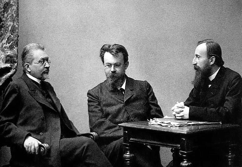 """співкерівники """"Союзу визволення"""" І. І. Петрункевич, В.І. Вернадський і Д. І. Шаховський"""