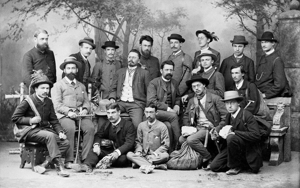 Володимир Вернадський на геологічній екскурсії, Мюнхен, 1888 р. А