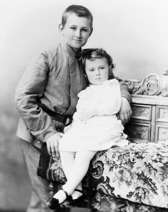 діти Гелогій та Ніна Вернадські, Полтава, 1909 р. 1