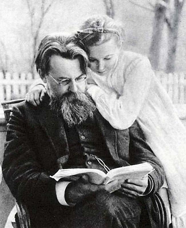 В.І. Вернадський із дочкою Ніною, Полтава, 1910 р