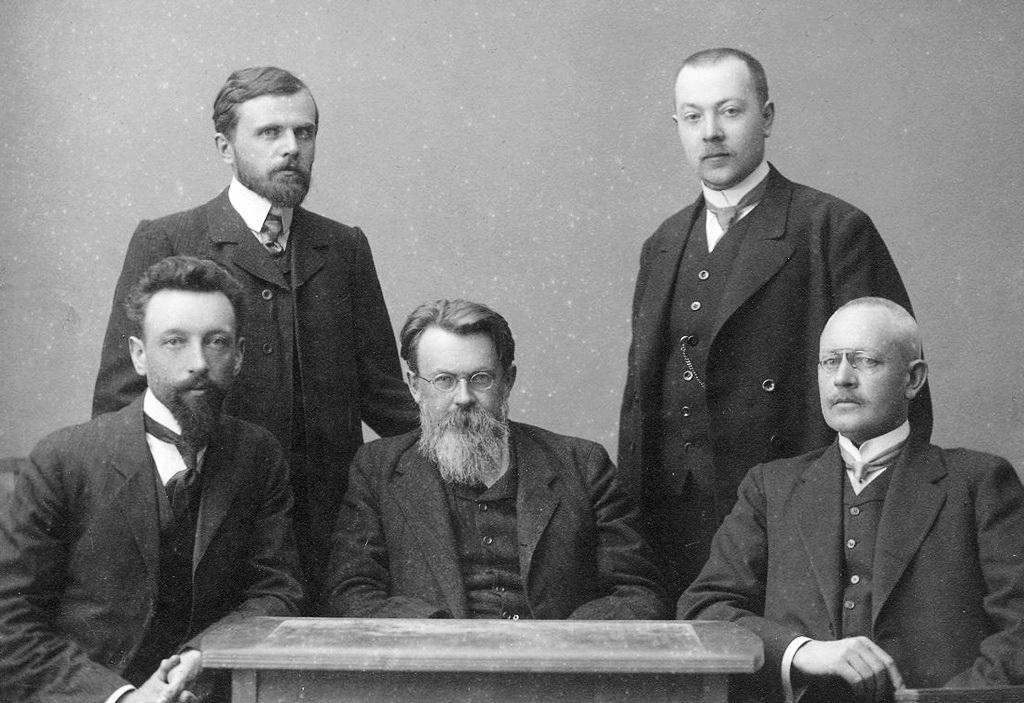 В.І..Вернадський у колі колег, 1911 р.