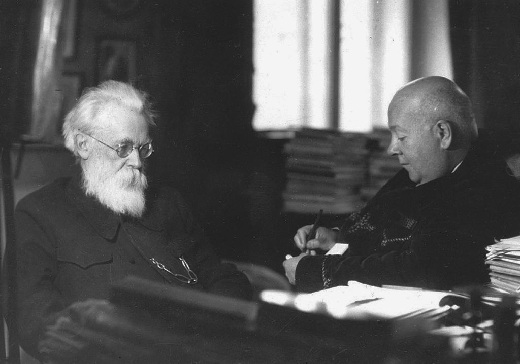 В.І.Вернадський і О.Є.Ферсман, 1940 р.
