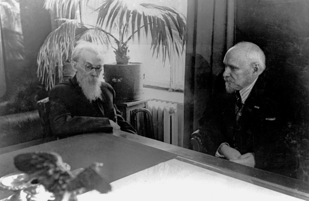 В.І.Вернадський і президент АН СРСР В.Л.Комаров, 1939-1940 рр.