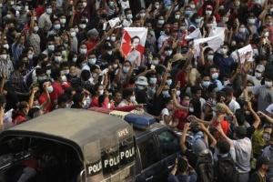 На протестах у М'янмі вбили щонайменше 11 осіб