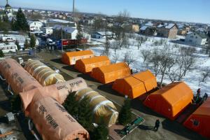 Na Przykarpaciu rozstawiono 30 namiotów mobilnego szpitala