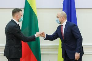Shmyhal, Landsbergis discuss strengthening of trade and economic cooperation