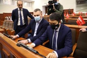 Кличко показал Разумкову, как работает система «Рада-4» в Киевсовете