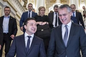 Beitritt zum Nato-Aktionsplan ist nächstes Ziel der Ukraine – Präsident Selenskyj im Gespräch mit Stoltenberg