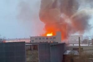 В Харькове горели склады площадью 700 квадратных метров