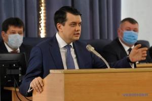 Разумков ответил недовольным приговором по делу Стерненка