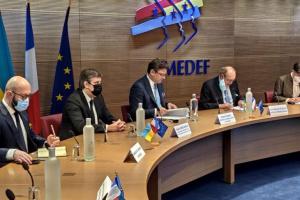 Кулеба запросив французький бізнес долучитися до Великого будівництва та приватизації